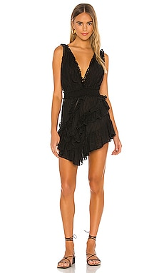 Asymmetrical Embroidered Ruffle Dress CHIO $524