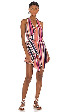 Short Lurex Wrap Dress CHIO $477 BEST SELLER