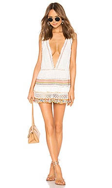 Multi Macrame and Fringe Dress CHIO $216
