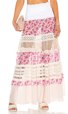 Floral Lace Maxi Skirt CHIO $605