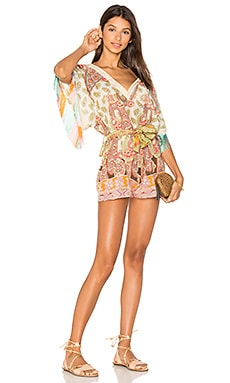 Deep V Romper in Multi