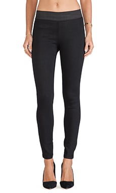Citizens of Humanity Greyson Legging in Black Suedette