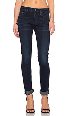 Citizens of Humanity Agnes Mid Rise Slim Straight in Midnight Blue