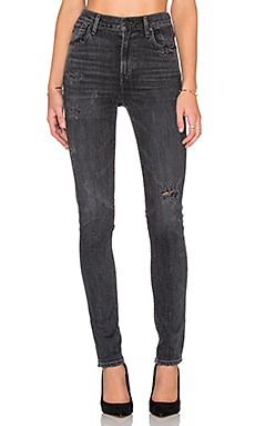 Citizens of Humanity Carlie High Rise Skinny in Black Oak