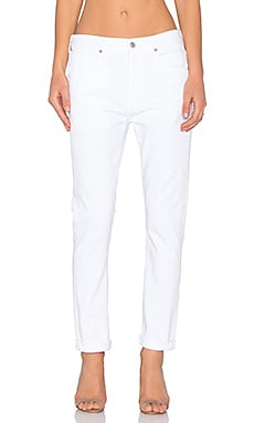 Corey Slouchy Slim in Distressed White