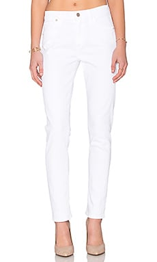 Citizens of Humanity Agnes Mid Rise Slim Straight in Optic White