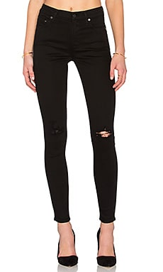 Citizens of Humanity Rocket High Rise Skinny in Black Rip