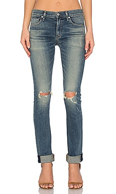 Citizens of Humanity Agnes Premium Vintage Mid Rise Slim Straight in Straight Up
