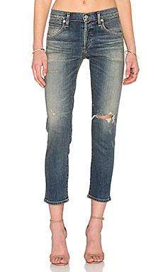 Citizens of Humanity Elsa Premium Vintage Mid Rise Slim Crop in Break Em In