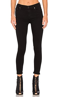 Rocket High Risky Crop Skinny in All Black