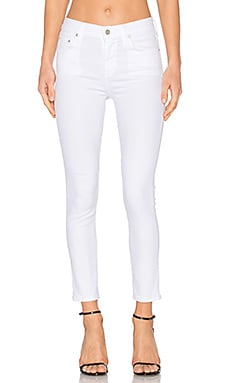 Rocket High Rise Crop Skinny en Sculpt White