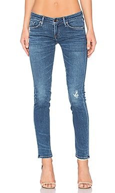 Racer Low Rise Skinny in Toas