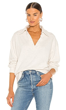 Rosalia Polo Collar Sweatshirt Citizens of Humanity $178