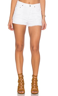 Citizens of Humanity Chloe Short in Distressed White