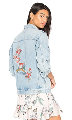 Embroidered Boyfriend Jacket in Rock On