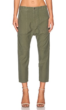 Citizens of Humanity Sadie Utlity Pant in Combat Green