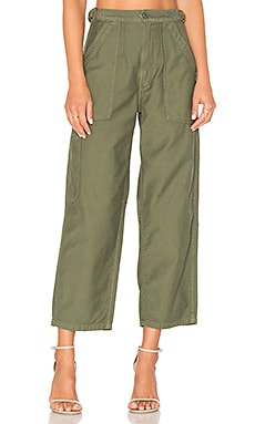 Kendall Wide Leg in Sergeant Green