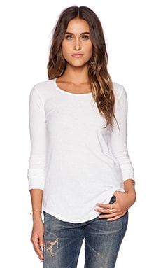 Citizens of Humanity Ellie Long Sleeve T-Shirt in White
