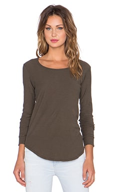 Citizens of Humanity Ellie Long Sleeve T-Shirt in Olive