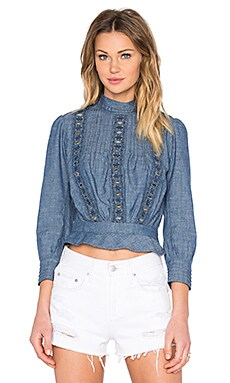 Citizens of Humanity Josie Top in Chambray