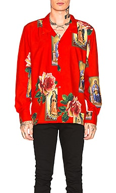 Holy Floral Long Sleeve Shirt Civil Regime $53