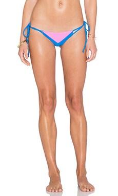 Cami + Jax Elizabeth Bikini Bottom in Blue Cina & Fuchsia