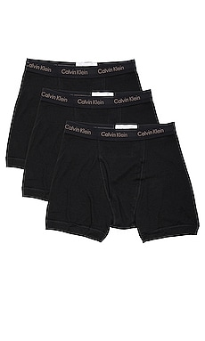 Cotton Classics 3 Pack Boxer Briefs & White & Heather Grey