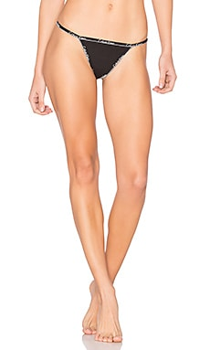 Cotton Thong en Noir