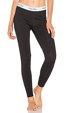 Modern Cotton Legging in Schwarz
