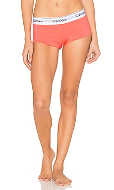 Modern Cotton Boyshort in Bright Nectar