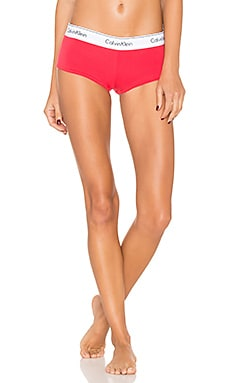 Modern Cotton Boyshort in Evocative Red