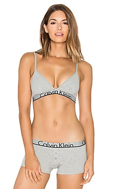Cotton Unlined Bra in Grey Heather