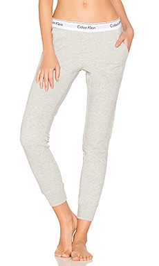 Modern Cotton Jogger in Grau meliert
