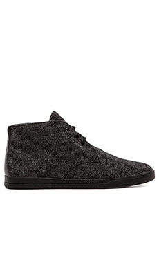 Clae Strayhorn Textile in Black Multicheck Wool