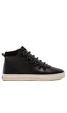 Clae Grant in Black Leather