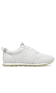 Clae Mills Tumbled Leather in White