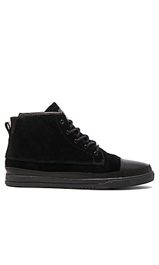 Clae Chambers in Black Waxed Suede