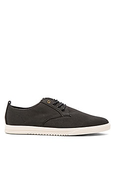 Clae Ellington Textile in Black Textured Canvas