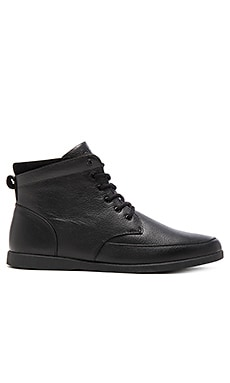 Clae Hamilton in Black Leather Black