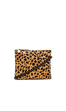 Clare V. Double Sac Bretelle in Leopard