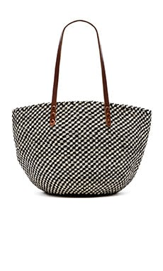 Clare V. Kenya Bag in Black & Cream
