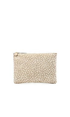 Clare V. Flat Clutch in Grey Ladybug