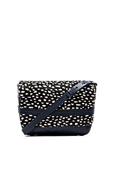 Clare V. Lou Crossbody in Navy & Black Ladybug