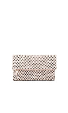 Foldover Clutch in Cream Cut Out
