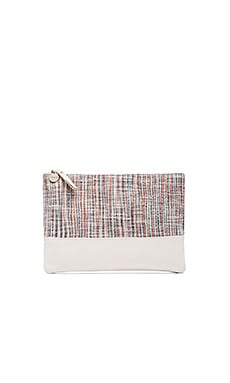Matilde Flat Clutch in Panier Multi & Cream Goat