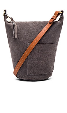 Petite Jeanne Bag in Dark Grey Suede