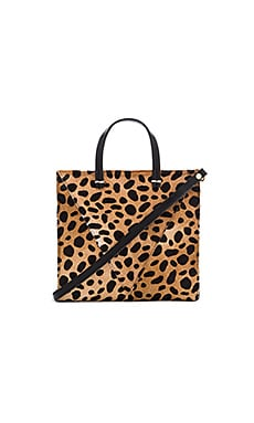 Clare V. Petit Simple Tote Bag in Leopard Hair