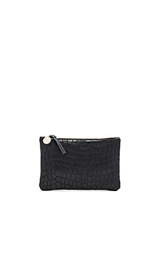Wallet Supreme Clutch in Black Tile Croco