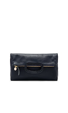 Marcelle Maison Foldover Clutch in Dark Navy