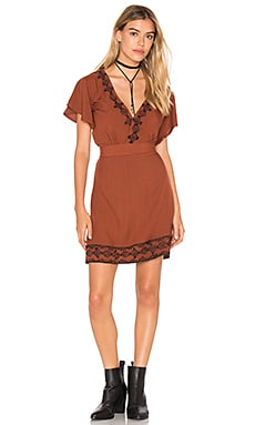 Cleobella Shay Short Dress in Cayenne